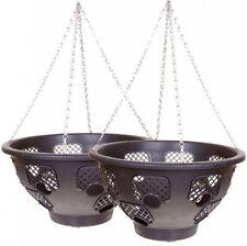 BOGOF 15 LARGE EASY FILL HANGING Basket PACK OF 2 BASKETS FLOWER DECORATION YARD