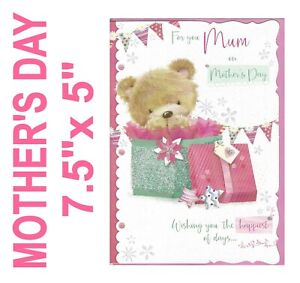 MOTHER'S DAY Card Mum - Teddy Cute     Mom Mother Mothering 19121