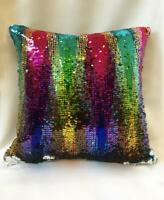 """New 16"""" Magic Sofa Cushion Cover Touch Mermaid Pillow Case Reversible Sequin"""
