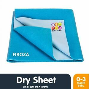 """Bey Bee Dry Sheets For Baby Dark Sea Blue Small (28""""X 20"""", Firoza) Free Ship"""