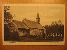 ~1920 alte AK Schleswig Haddebeyer Kirche Friedhof