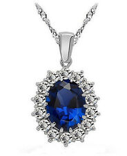Necklace Pendant Rich Blue Sapphire Swarovski Crystal Perfect Gift Brand New