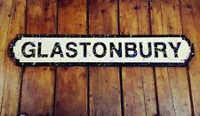 Glastonbury, Vintage Road Street Festival Sign. Novelty Gift wall door hanging