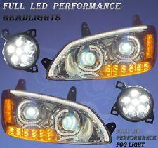 QSC Full LED Performance Headlight Assembly Fog Lights Set for Kenworth T660