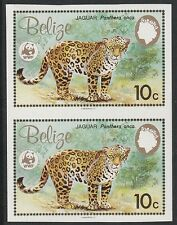 Belize (1258) - 1983 WWF Jaguar 10c IMPERF PAIR unmounted mint