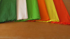 "6 SHEETS OF CREPE PAPER 19""x78""   FUN BRIGHT GREEN/ORANGE MIX"