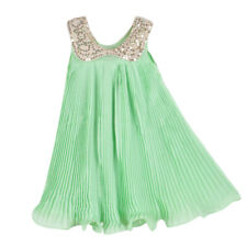Girls Wedding Dress Full Length Beaded Halter Maxi Gown Wedding Party Princess