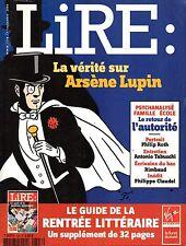LIRE 2004: La vérité sur ARSENE LUPIN_ARTHUR RIMBAUD_PHILIPPE CLAUDEL