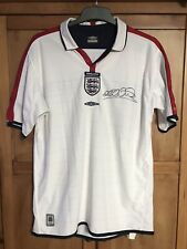 AUTHENTIC SIGNED MICHAEL OWEN ENGLAND SHIRT (2003/05) GREAT CONDITION