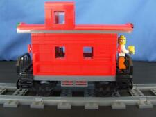 New Custom Lego City Train Caboose Built w/ NEW Bricks Parts fits 9 Volt RC IR
