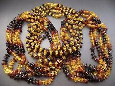 Lot 15 pcs Genuine Baltic Amber Baby Necklace Mixed Color 32 - 33 cm