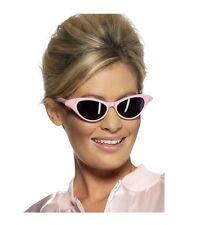 Women's Grease 1950's Fancy Dress Pink Lady Glasses Sunglasses Hen Theme Fun Do