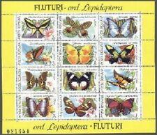Romania 3696-3697,MNH.Michel 4716-4739. Butterflies,Moths,Flowers,1991