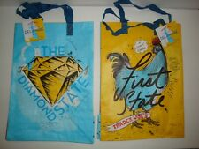 NEW TRADER JOE'S QTY 2 REUSABLE SHOPPING GROCERY ECO BAGS DELAWARE