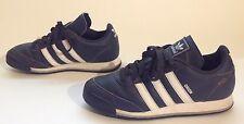 Men's Adidas Orion Blue Leather Fashion Tennis Shoes Sz 6 Retro Style