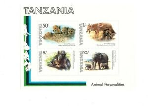 Tanzania - Scott 204a Animal Personalities - Souvenir Sheet - MNH
