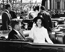 President and Mrs. John F. Kennedy in the back of an open car New 8x10 Photo