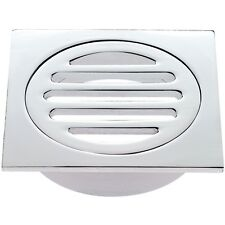 80mm Highest Quality Bathroom Square Solid Chrome Brass Floor Waste Grate Drain