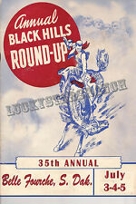 Belle Fourche S. Dak Black Hills Round Up -  VINTAGE RODEO POSTER