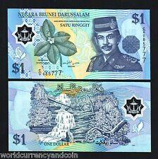BRUNEI $ 1 P22 1996 RAIN FOREST POLYMER UNC CURRENCY MONEY BILL BANK NOTE 10 PCS
