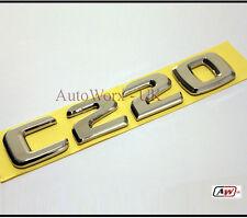 C220 C Class Rear Boot Badge Letters Emblem W202 W203 W204 S202 S203 Mercedes