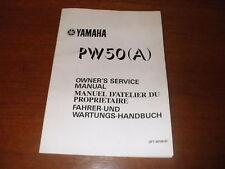 YAMAHA PW50 MANUAL(A) 1989 3PT 28198-81 NEW, FREE POST.