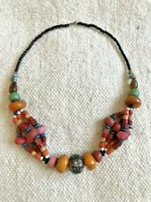 Moroccan necklace jewelry, berber, african, beads, handmade