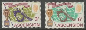Ascension 1966 #100-01 World Cup Soccer Issue (set of 2) - MNH