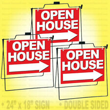 Realtor A Frame Metal Stand With 24x18 Open House Sign 3 Pack