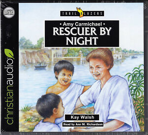NEW Amy Carmichael Rescuer By Night Trailblazer Audio Book 3 CDs Christian Hero