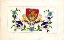 World War 1 Silk. Folkestone Heraldic by CEK. Coat of Arms.