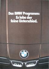 Prospekt BMW Modellprogramm 1977 - 1/77  M 3er E21 5er E12 6er E24 7er E23