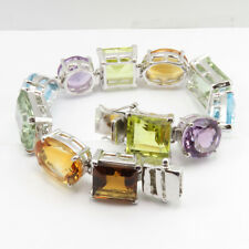92.5% Solid Sterling Silver Real Lemon Quartz & Other Gemstones Women's Jewelry