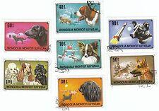 MONGOLIA - Bustina 7 francobolli serie CANI