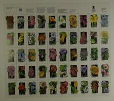 US SCOTT 2647-2696 PANE OF 50 WILDFLOWERS STAMPS 29 CENT FACE MNH