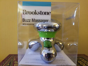 Brookstone Lime and Chrome Buzz Massager