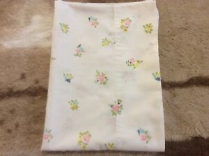 Vintage Cannon Monticello Pillowcase Pillow Case Standard Size Small Flowers
