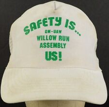Safety Is GM-UAW Willow Run Assembly US Mesh Trucker Hat Cap Snapback Strap