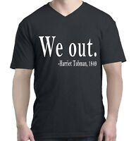 Shop4Ever We Out. Harriet Tubman, 1849 Men V-Neck Black History Shirts