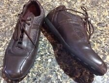 Geox 7.5 8 Euro 38 Brown Leather Lace Up Oxfords Sneakers