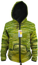 Aus Wolle Batik Fleecefutter Reißverschluss Bunt Nepalesisch Tasche Jacke