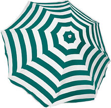 Mirage Beach Outdoor Picnic Umbrella 2m Green Stripe White