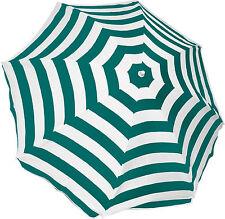 Mirage Beach Outdoor Picnic Umbrella 2m Green Stripe White
