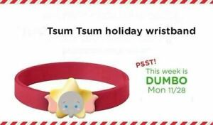 Disney Store Tsum Characters 3rd Week Holiday Dumbo Rubber Bracelet Wristband