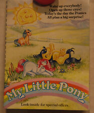 My little Pony G1 Exclusive mail order brochure Rare 1985  Artwork Advertisemt