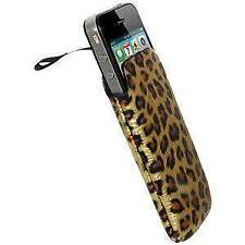 FASHION LEOPARD DESIGN SLEEVE SLIP POUCH LUXURY CASE COVER FOR IPHONE 4 4S