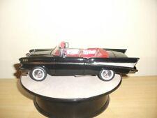 Franklin Mint 1957 Chevrolet Bel Air Convertible w/New Display Case 1:24 Black
