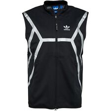 Adidas Originals ZX Gilet Full Zip Sleeveless Jacket Black Silver Size Small Men