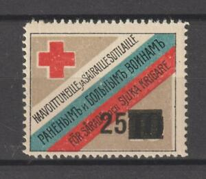 Russia Cinderellas Poster Seal Stamp Red Cross 25 overprint on 10