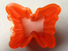 "6 PACK BUTTERFLY SLINKY TRANSLUCENT ORANGE TAIWAN QUALITY VINTAGE 3"" US SELLER"